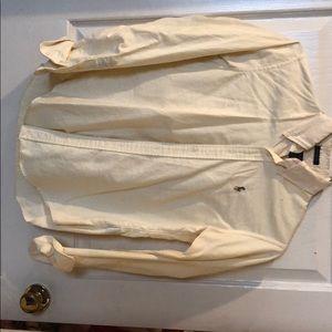 Yellow/white striped Ralph Lauren button up